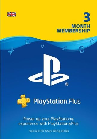 PSN Plus 3 Months UK