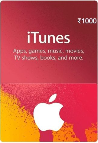iTunes Gift Card India 1000