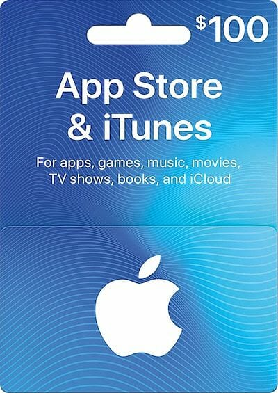 iTunes $100 USD Gift Card