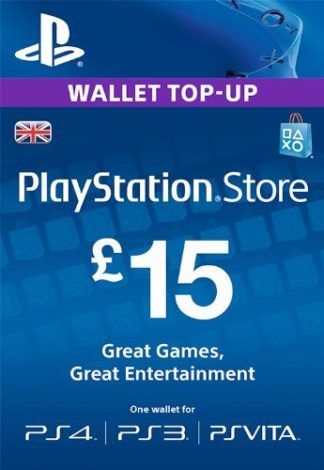 PSN Card 15 GBP UK