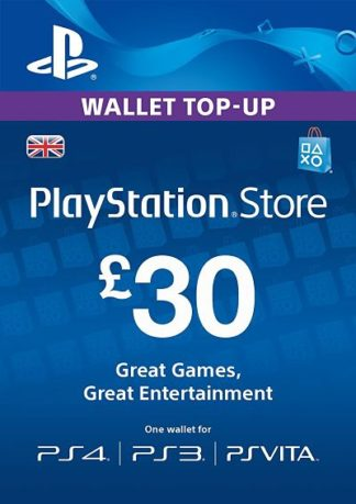 PSN Card 30 GBP UK