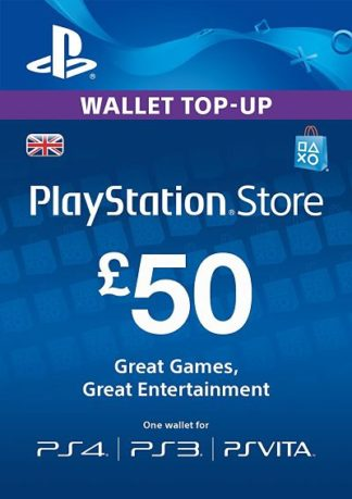 PSN Card 50 GBP UK