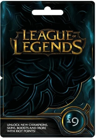 League of Legends GBP 9 Gift Card – 1475 Riot Points