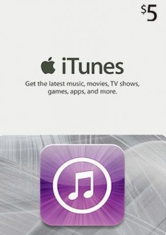 iTunes Gift Card $5 USD