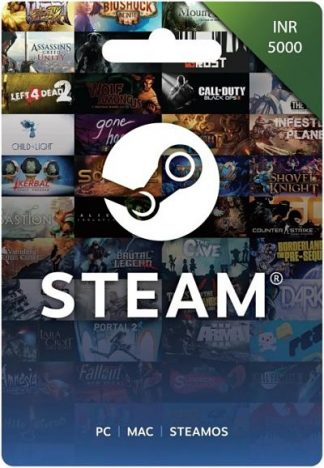 Steam Gift Card 5000 INR INDIA