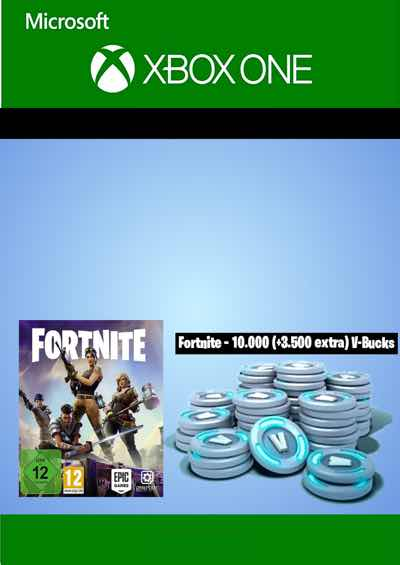 Fortnite 10000 3500 Bonus V Bucks For Xbox One