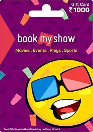 BookMyShow Rs. 1000