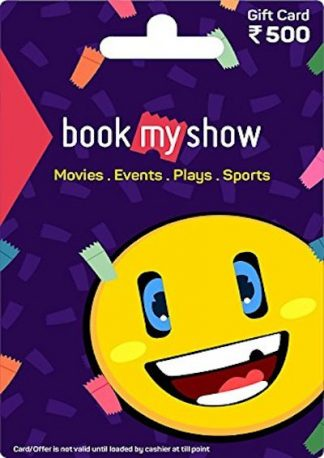 BookMyShow Gift Card Rs 500