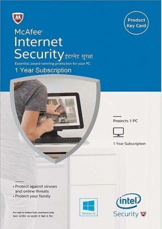 McAfee Internet Security - 1 PC, 1 Year (Activation Key Card)