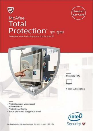 McAfee Total Protection - 1 PC, 1 Yea