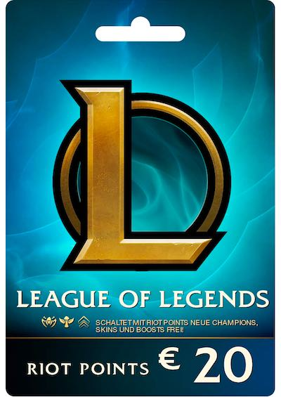 League Of Legends 20 Euro Prepaid Gift Card 2800 Riot Points